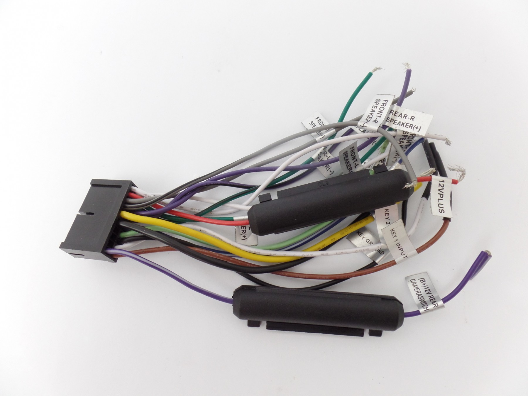 Wiring Harness Video Audio Input Output Wires for Boss BV9976B Car ReceiverAVE Electronics