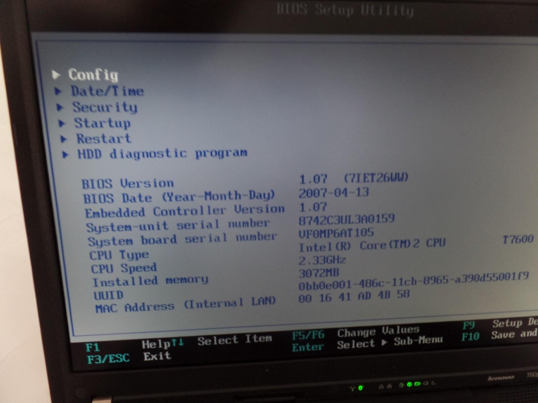 IBM ThinkPad T60p 8742-C3U 15 4