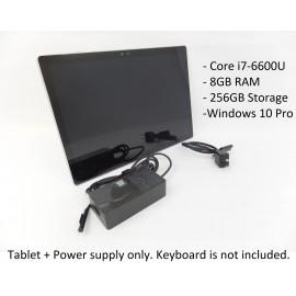 "Microsoft Surface Book 1703 13.5"" i7-6600U 8GB 256GB W10P Tablet + Power Supply"