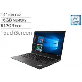 "Lenovo Thinkpad T480s 14"" FHD Touch i7-8650U 1.9GHz 16GB 512GB SSD W10P Laptop"
