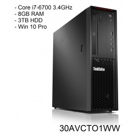Lenovo ThinkStation P310 SFF Core i7-6700 3.4GHz 8GB 3TB W10P 30AVCTO1WW R