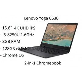"Lenovo Yoga C630 15.6"" 4K UHD Touch i5-8250U 1.6GHz 8GB 128GB Chrome Laptop Blue"