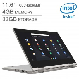 "Lenovo C340 11.6"" HD IPS Touch N4000 1.1GHz 4GB 32GB eMMC 2in1 Chromebook Gray"