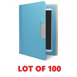 Lot of 100 Cygnett Alumni Canvas Case Folio For iPad 3rd 4thGen CY0713CIALU Blue