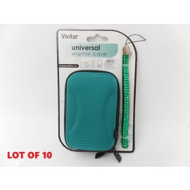 Lot of 10 Vivitar Universal Hard Cases for Digital Camera MP3 Player Wrist Strap
