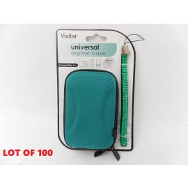 Lot of 100 Vivitar Universal Hard Case for Digital Camera MP3 Player Wrist Strap