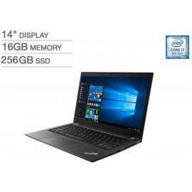 "Lenovo Thinkpad T480s 14"" FHD i7-8650U 1.9GHz 16GB 256GB SSD W10P Laptop"