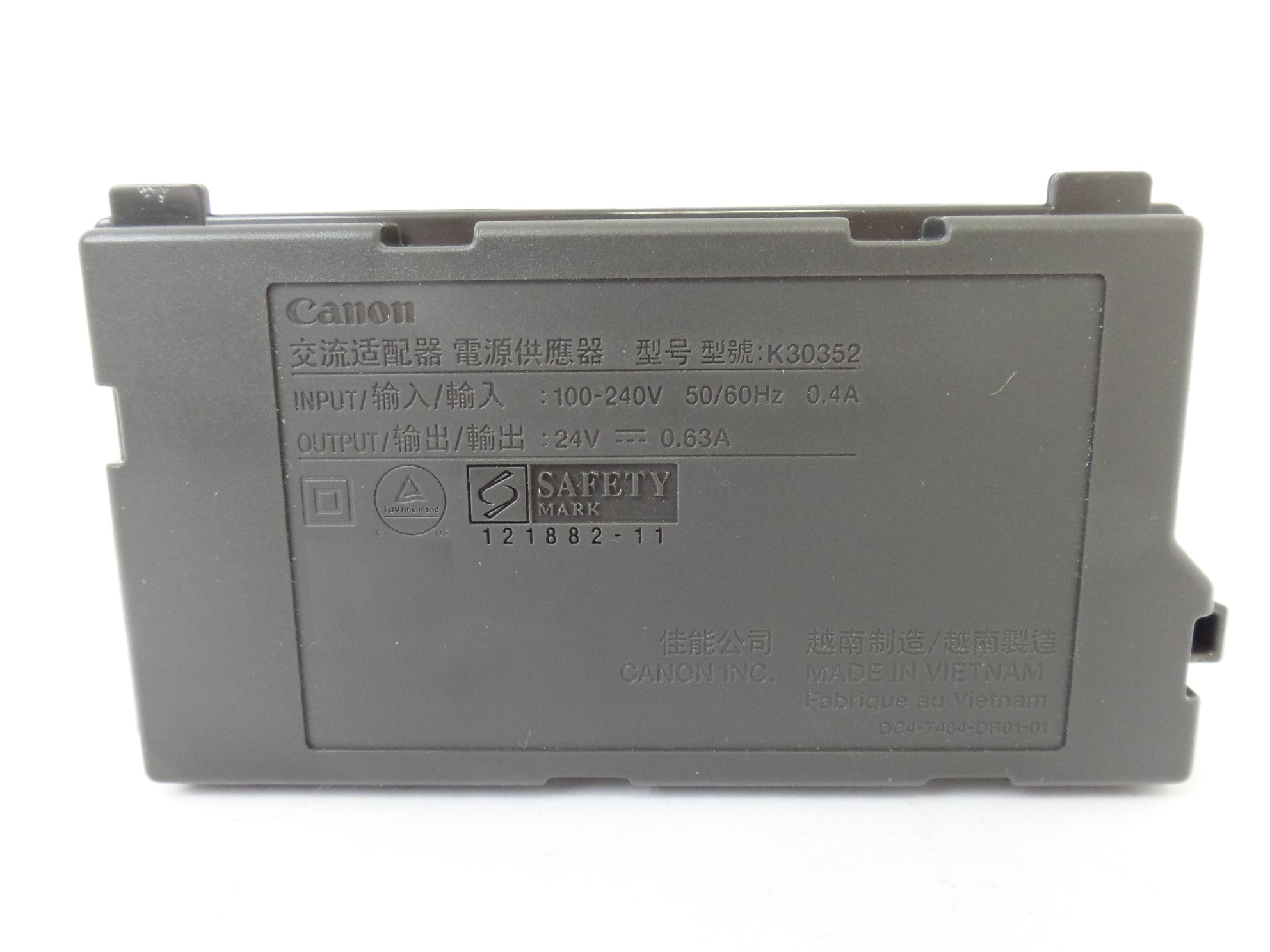 OEM Canon AC Power Adapter K30352 For Canon Pixma MG2922 Printer