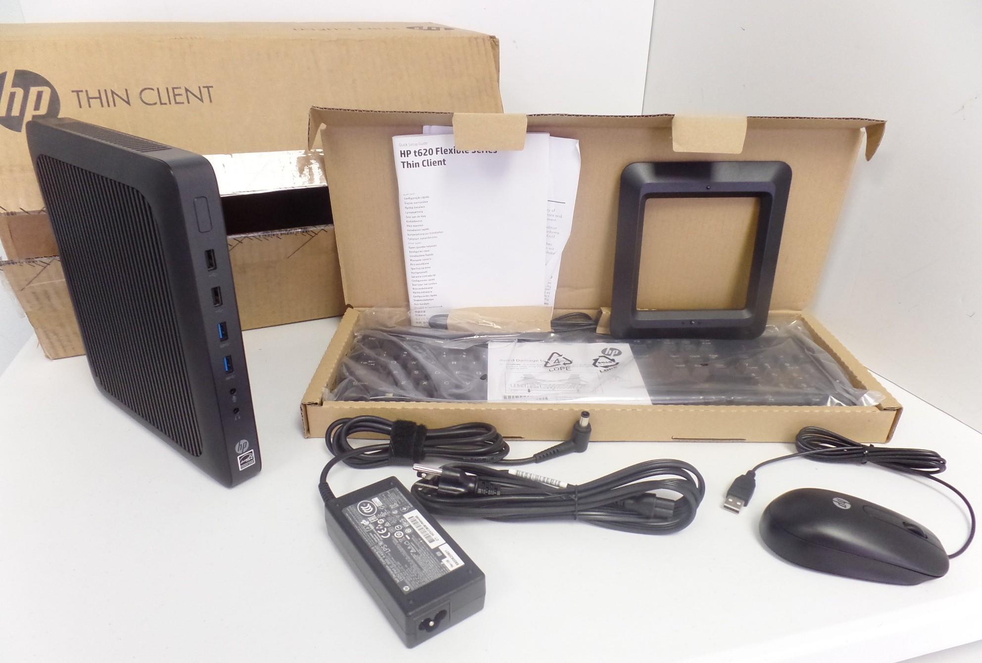 HP t620 Flexible Thin Client GX-415GA 4GB RAM 16GB W7E G4V27UA Desktop OB
