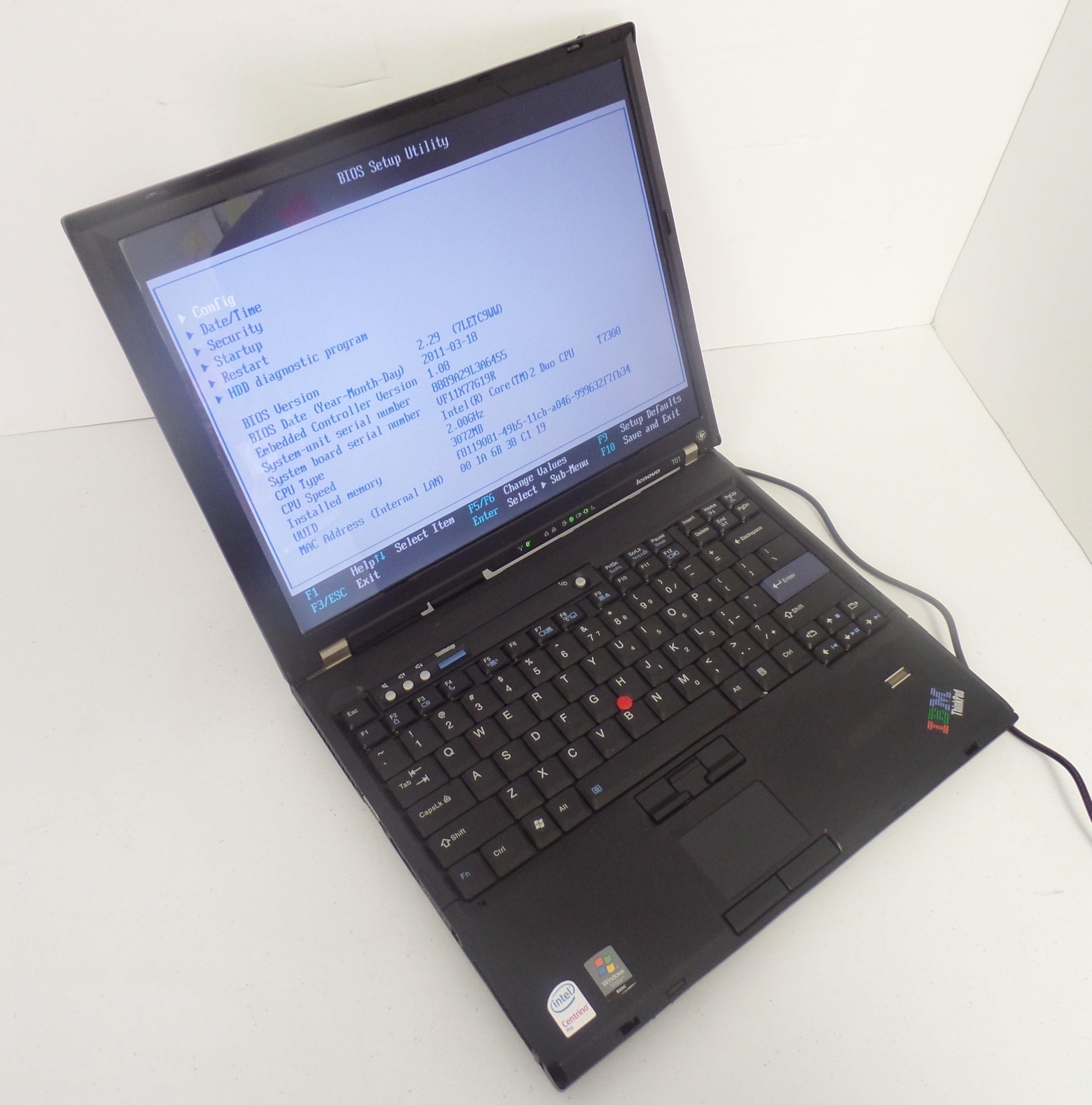 Lenovo T61 Bios